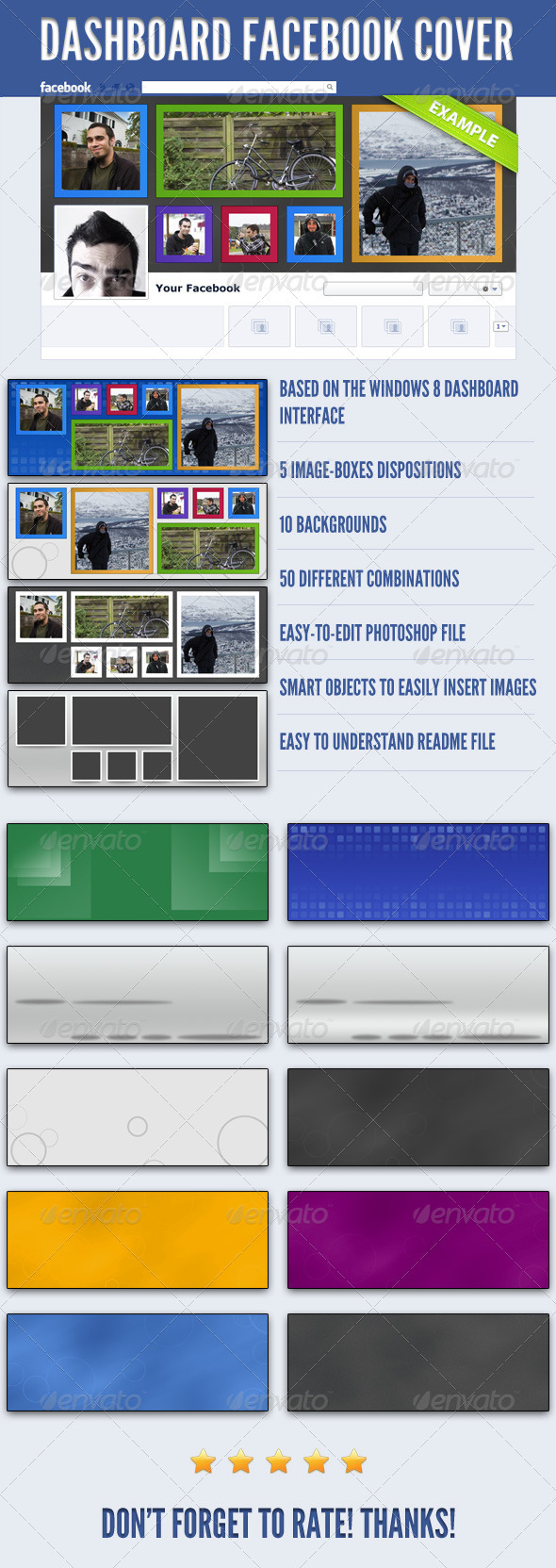 GraphicRiver Dashboard FB Cover Pack 3521123