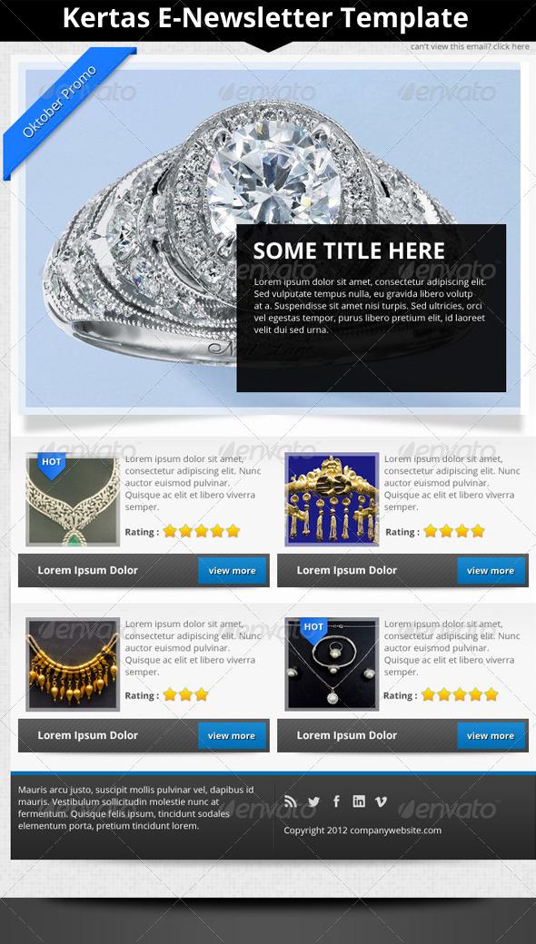GraphicRiver Kertas E-Newsletter Template 3408179
