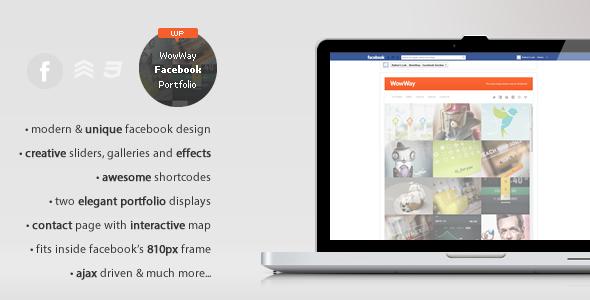 ThemeForest WowWay Interactive Facebook Portfolio WordPress Creative 3528178