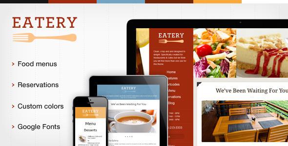 ThemeForest Eatery Responsive Restaurant WordPress Theme WordPress Entertainment Restaurants & Cafes 3469316