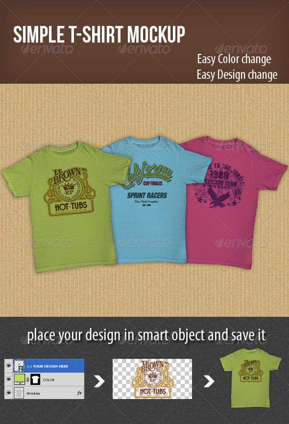GraphicRiver Simple T-shirt Mockup 3532834