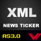 As3 dynamic xml news ticker - ActiveDen Item for Sale