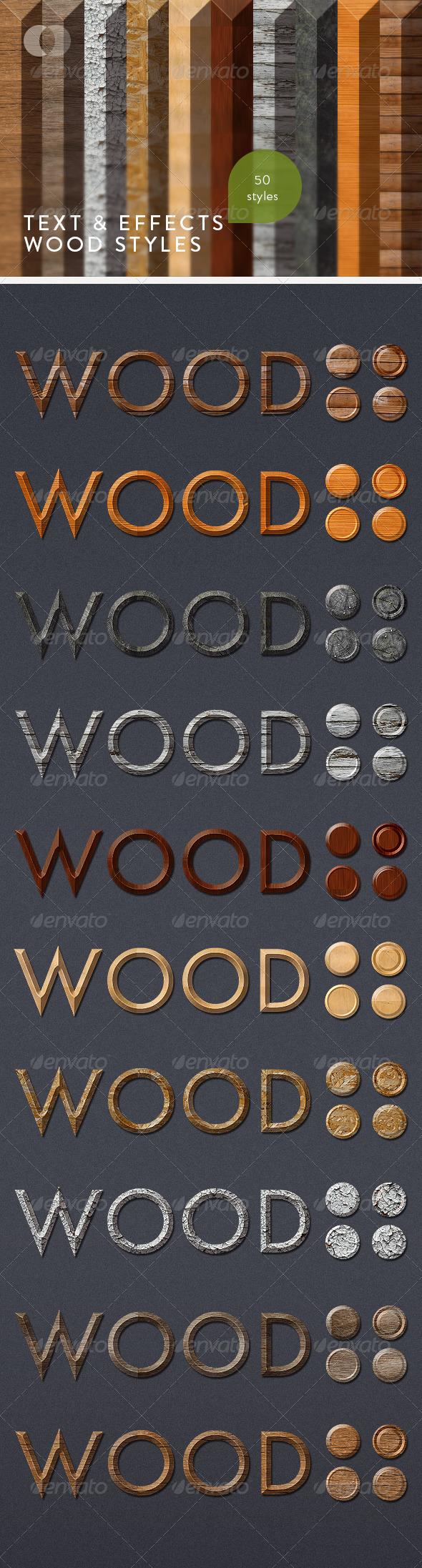 GraphicRiver Text & Effects Wood Styles 161277