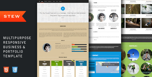 ThemeForest Stew Multipurpose Business & Portfolio Template Site Templates Creative 3444838