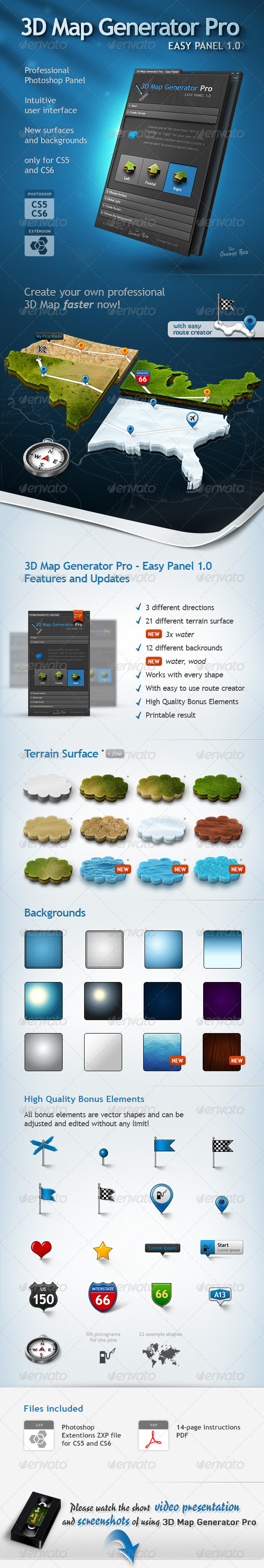 GraphicRiver 3D Map Generator Pro Easy Panel 3540744