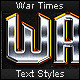 War Times - Text Styles - GraphicRiver Item for Sale