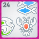 24 AI Malibu Astrology icons - GraphicRiver Item for Sale