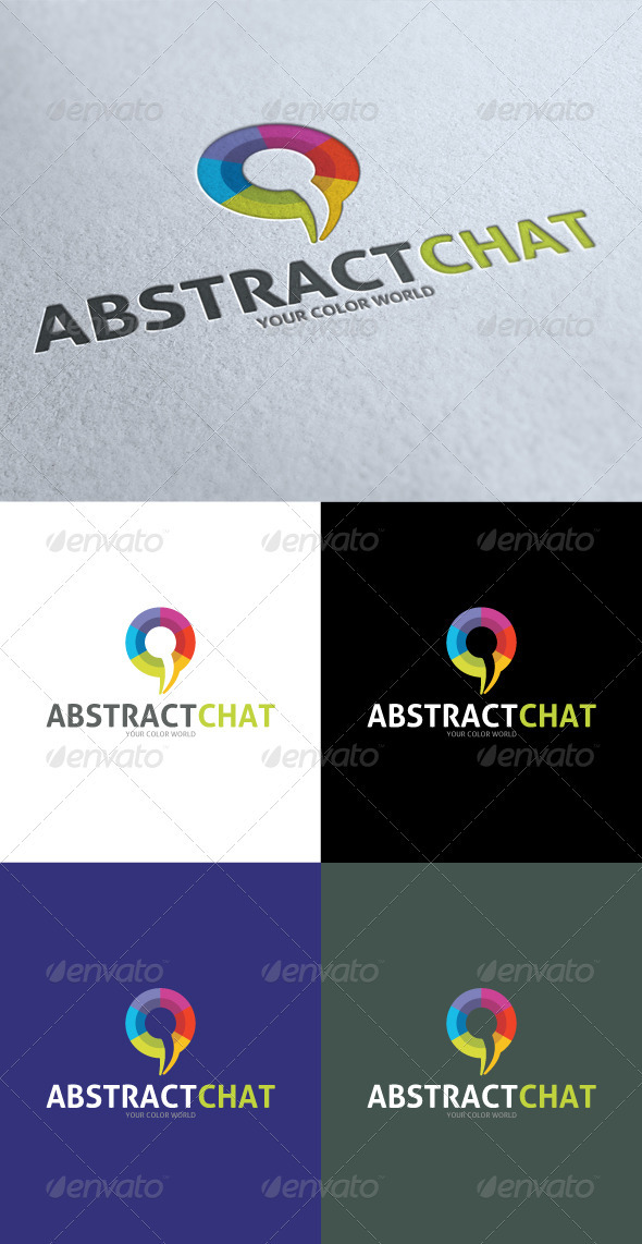GraphicRiver Abstract Color Chat Logo 3547401