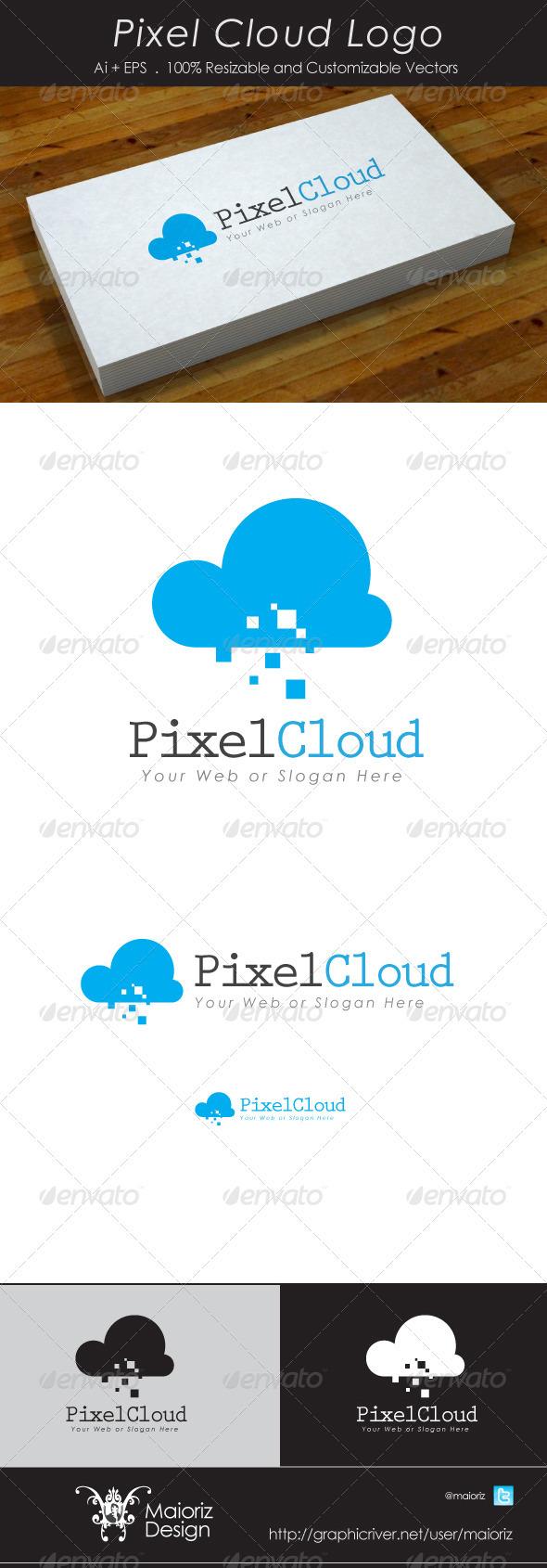 GraphicRiver Pixel Cloud Logotype 3511554