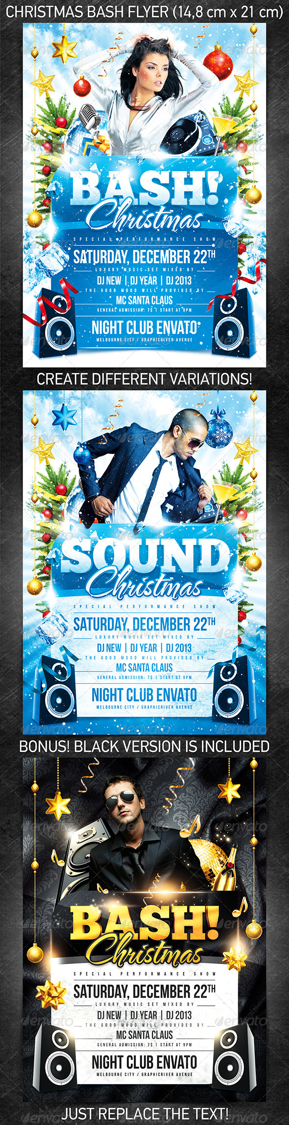 GraphicRiver Christmas Bash Flyer Template 3549117