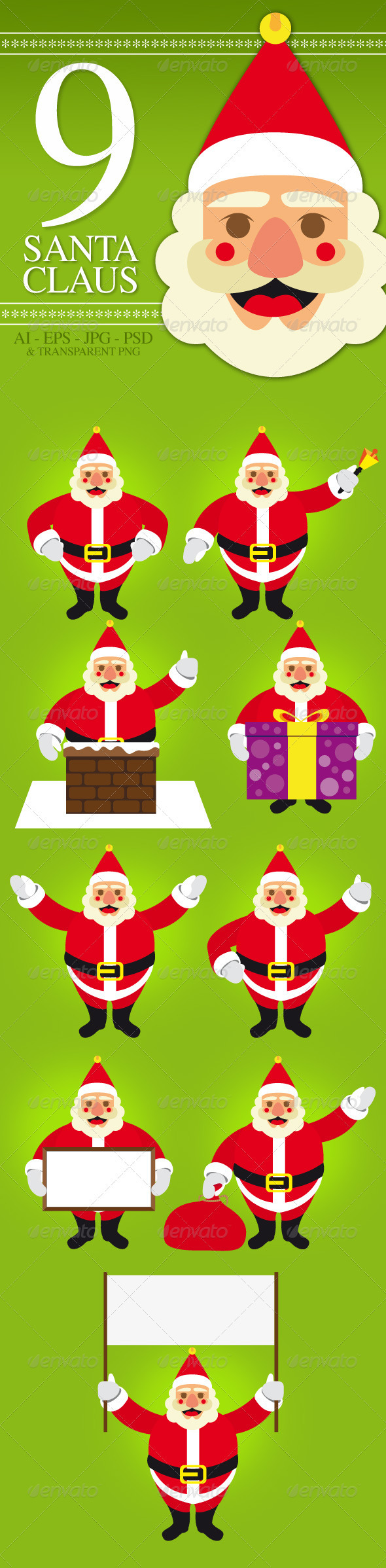 GraphicRiver Santa Claus Pack 3549568