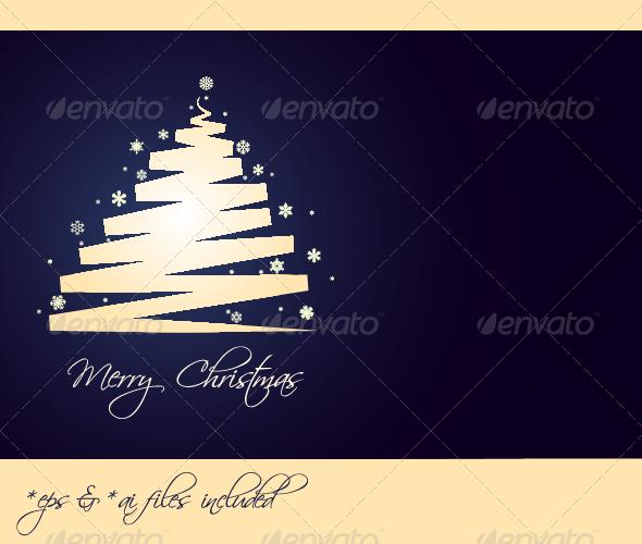 GraphicRiver Merry Christmas Vector Christmas Card 3551607