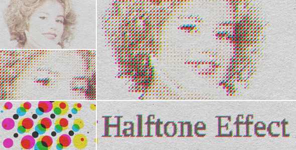 VideoHive Halftone CMYK Effect 3555349