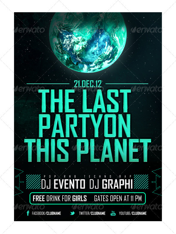 GraphicRiver Last Party Flyer 3560137