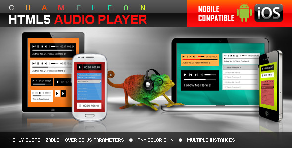 Sticky radio player full width shoutcast and icecast for Html5 video player template