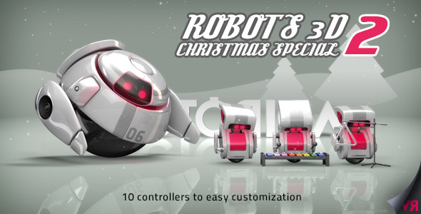 VideoHive Robots 3D Christmas Special II 3560631