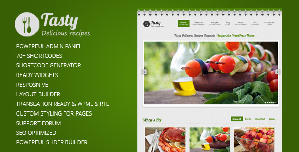 ThemeForest Tasty Responsive Food WordPress Theme 3531281
