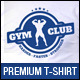 Bodybuilding Gym Club T-Shirt Template - GraphicRiver Item for Sale