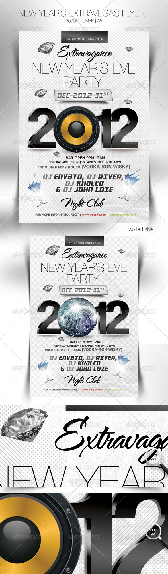 GraphicRiver New Year s Extravegas Party Flyer 1142486