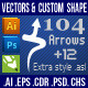 104 Arrows v2 Photoshop Custom Shapes - GraphicRiver Item for Sale