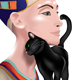 Nefertiti with Cat - GraphicRiver Item for Sale