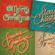 Christmas Vintage Cards Set (Vector) - GraphicRiver Item for Sale