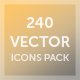 240 Vector Icons Pack - GraphicRiver Item for Sale