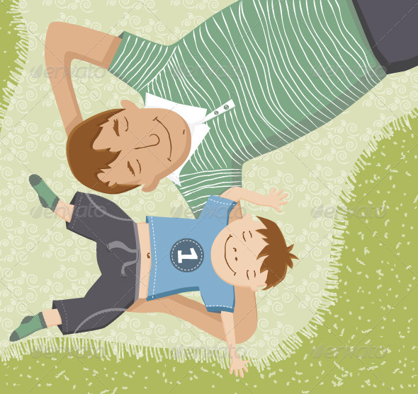 GraphicRiver Father and Son Having Fun Together 3534098