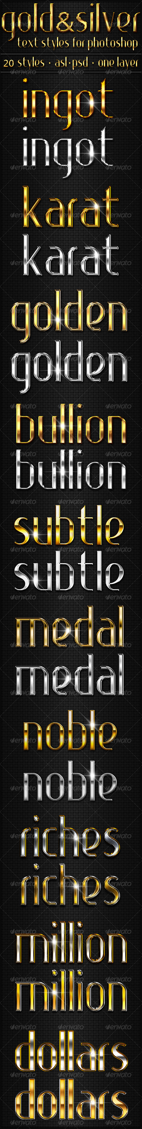 GraphicRiver Gold & Silver Text Styles 3575293