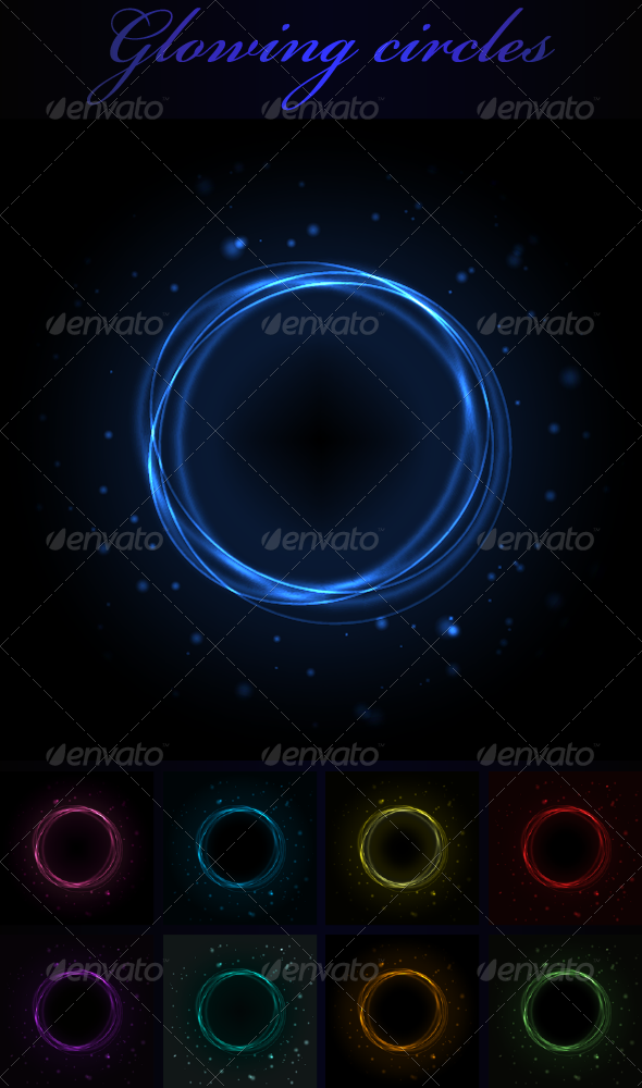 GraphicRiver Glowing Circles 3552226