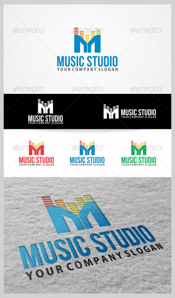 GraphicRiver Music Studio Logo Template 3516878