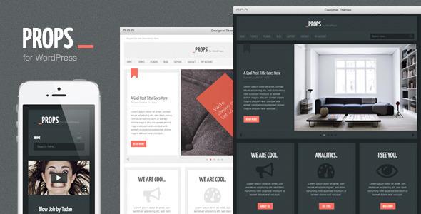 ThemeForest Props a Responsive Agency WordPress Theme WordPress Corporate 3575094