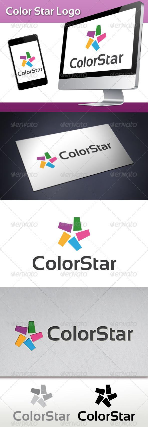 GraphicRiver Color Star Logo 3546946