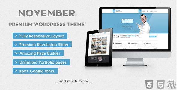 ThemeForest November Clean & Modern Wordpress Theme WordPress Corporate 3568264