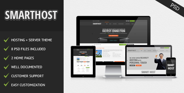 ThemeForest Smart Host PSD Templates Technology Hosting 3560255