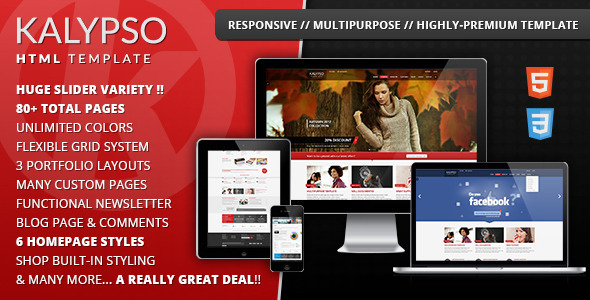 ThemeForest KALYPSO Highly-Premium Multipurpose Template Site Templates Creative 3583938