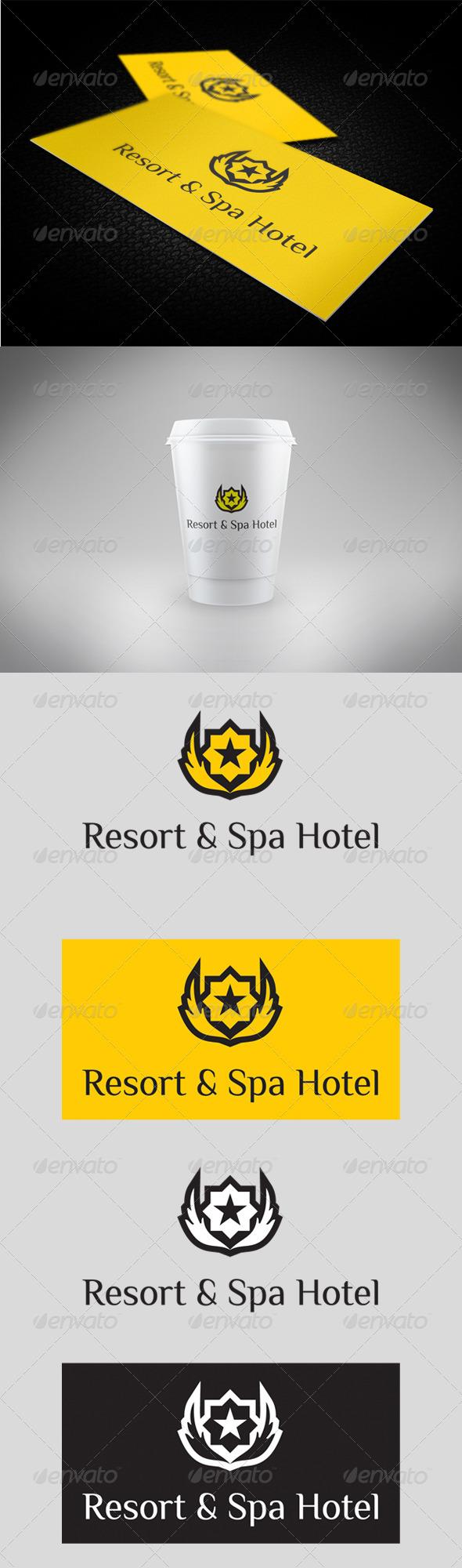 GraphicRiver Resort & Spa Hotel Logo 3533852