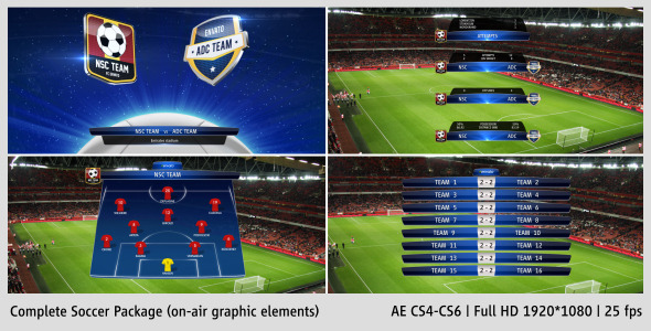 VideoHive Complete On-Air Soccer Package 3593551
