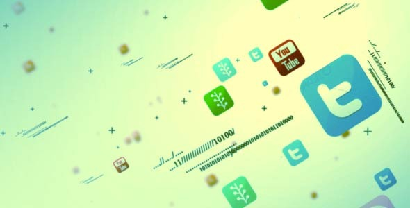 VideoHive Social Media Multipal Icon Intro 3602090