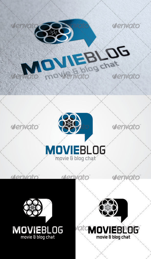 GraphicRiver Movie Blog Chat Logo 3603902