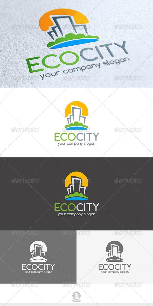 GraphicRiver Eco City Logo 3603932