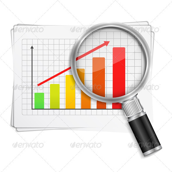GraphicRiver Chart with Magnifying Glass 3608521