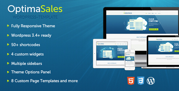 ThemeForest OptimaSales Responsive WordPress Theme WordPress Technology 3609807