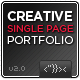 Creative Single Page Portfolio - ThemeForest Item for Sale