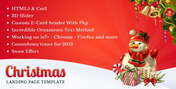 ThemeForest Christmas Landing Page Marketing Landing Pages 3614544