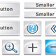 White Button and Icon Set - ActiveDen Item for Sale