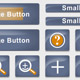 Blue Button and Icon Set - ActiveDen Item for Sale