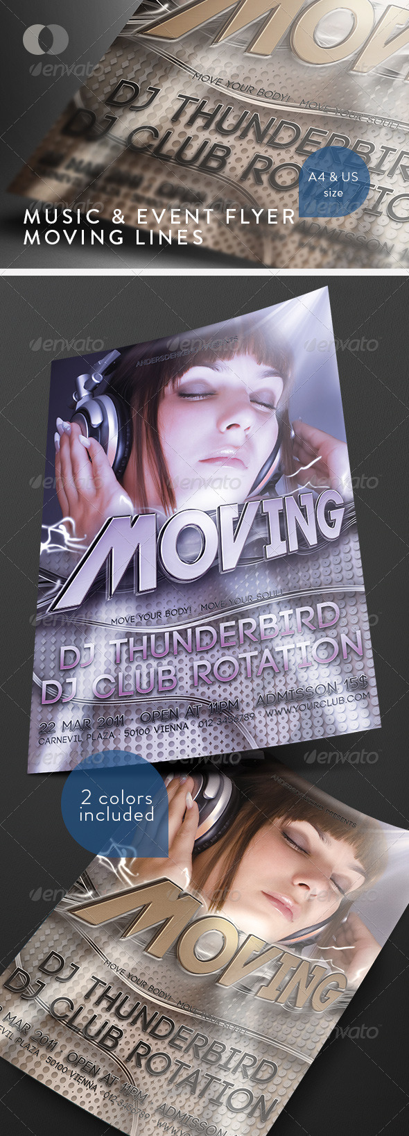 GraphicRiver Music & Event Flyer Moving Lines 163883