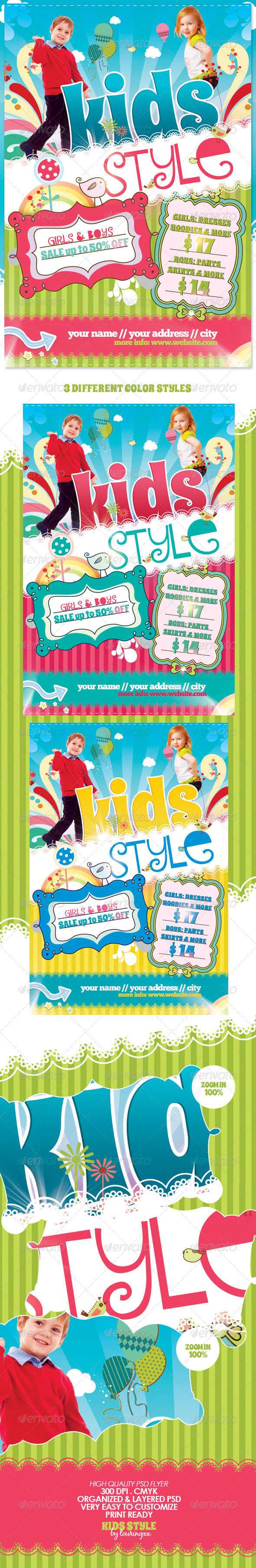 GraphicRiver Kids Style Flyer Template 491021