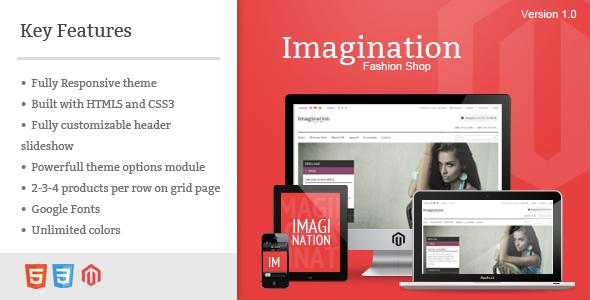 ThemeForest Imagination Responsive Magento Theme eCommerce Magento 3621552